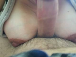 ex girlfriend showing off pregnant tits while cheering me up