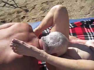 This is Lydia and me fucking in the desert.  Her hubby is filming this and tries to get involved but it seems Linda and I have to do what we love to do.  Lydia is 78 and her hubby is 88.
