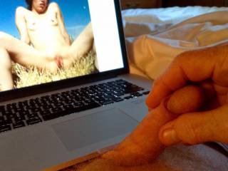 My balls are beneath my laptop and it\'s very hot almost painful but feels fantastic as I stroke my cock looking at Zoig new comer tangytwang\'s sexy photos.
