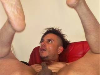 spreading my legs and my hole ready for u! ladies and gentlemen would u like to take turns?
