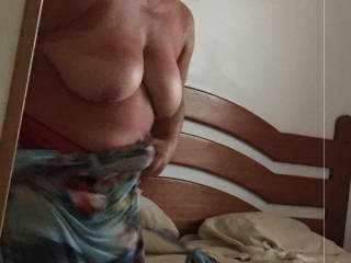 Her big fat tits … what perverted things would you do to them ?