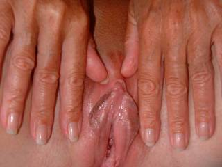 I take my last comment back. This is my fave pussy picture. I've still got work to do. My tongue is ready for your call. I'd start by licking up and down your lips and teasing your clit with my fingers. Maybe let my tongue wonder as far as you'll let me go. And I would do it as long as you'd let me.