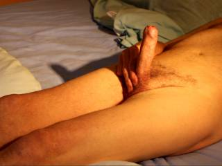 Don't you think that in this swollen state  that 'He' is just desperate for you to peel back 'His' foreskin?