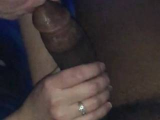 """Do you like how I'm getting my bbc friend ready to put that 9"""" cock deep in my pussy? I thought I was gonna choke on it."""