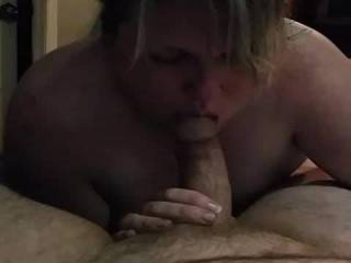 we had  a friend  over  for  some   naked  fun  loved  to see the  wife  suck his   cock