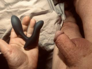 Got an anal vibrator for my birthday, my gf can control it from 1,500 miles away. Exciting and fun.
