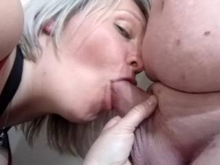 She just loves getting a cock hard with her mouth