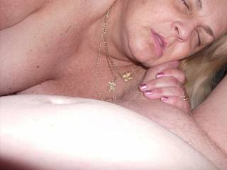 Can You tell how much she Loves Cock by the way she Rubs it on her Face?