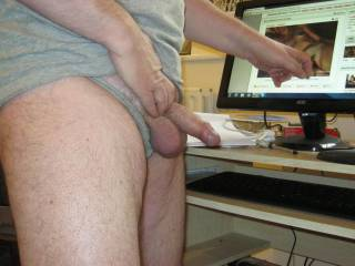 gosh that is so horny my pussy is all wet  wish you were shoving that cock in me