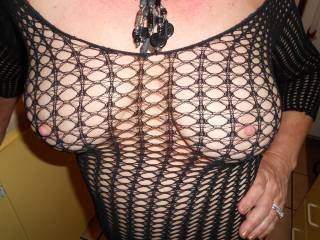 My nipples alway find a whole to pop out in this dress