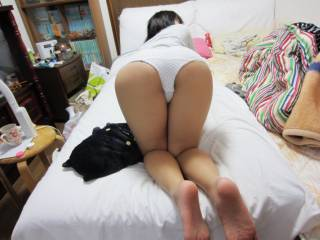 my wife ready for a spank