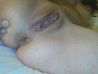Mmm what a fine pussy!!! Love to do a cum tribute to this picture and shoot a big creamy white load of cum all over her sweet pink pussy lips!!!
