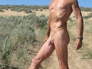 I'd go out jeeping and being naked...as long as I get time to suck your cock while we are hiking and Jeeping.  MILF K