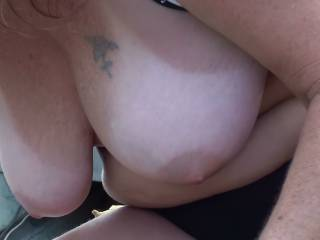 I definitely like her big natural tits and the way they hang so nicely