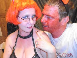 Having a little dress up fun for Halloween in Zoig Chat, now you can see, we really are \'horny\' little devils haha ..