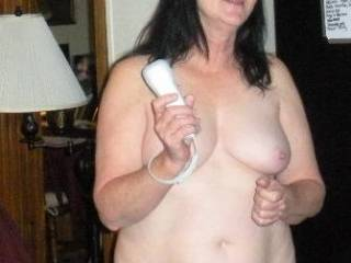Playing Wii Nude? what a great concept! Need to try that with some of our fuck friends.