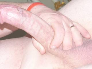 showing everyone how big my cock is