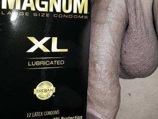 Largest condom on the market (in stores), and they still feel too tight.