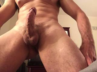 Wish someone could there to lick my balls and suck my hard cock...