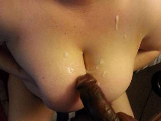 Titty fucking leads to glazed tits