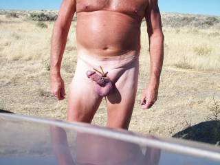 Naked and hard, cock is throbbing at Potholes Res in Ea.Wa....Join me?