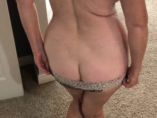 She's feeling frisky. Showing me her hot ass.