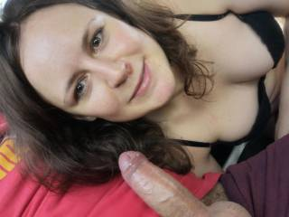 The girl was so eager to get home ...It\'s so happy he has my.  dick there Ready to suck it