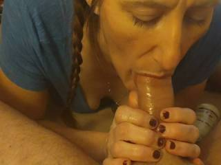 She loves to suck and lick balls more than anything
