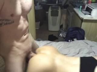 Fucking her pussy from behind til she squirts then shoved it in her ass til she squirted again. Mm