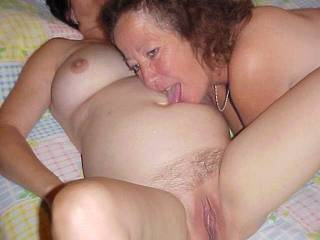 My EX licking my cum off of our friend. She really likes CUM !