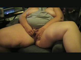 Sitting almost naked with your pussy showing...would have liked to be sitting across from you!