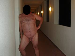 Summer '08 vacation at a condo on the beach!  Soon after this pic hubby got caught in the nude by 3 women.  They enjoyed seeing his cock and I enjoyed seeing him so exposed and embarassed!