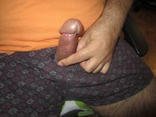 I used to have a jerk buddy who had a cock very similar to yours.  short fat and with a big mushroom cap.  we would watch porn and jerk each other off.  never sucked his dick, should have.  I would def suck your mushroom cap