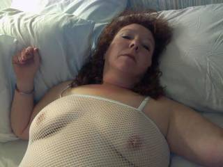 LOVE IT.  Would love to lick those nipples and then shove my tongue in your ass!
