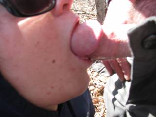 love when he fucks my mouth... makes me gag on it... anyone wanna suck on my nipples while he throat fucks me