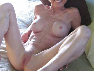 mmmm.........YUMMY!  I would love to have my face in your pussy, giving you many orgasms. Can we soak the bed with your sweet juices?
