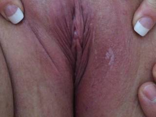 My friends pussy just before I licked and fucked it