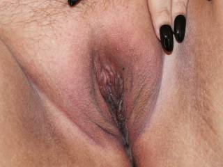 My freshly shaved wet pussy for you.