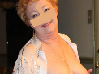 Such pretty tits on a lovely mature woman.  You like?