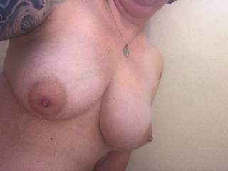my wet tits in the shower