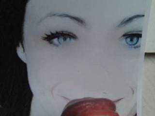 Tribute for Felicia19, she deserves some right? She\'s superhot and loves to slurp some cum..