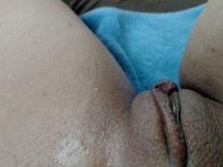 Fresh showered tight milf pussy
