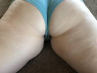 Another shot of her big butt. Does it look fun to fuck from behind?
