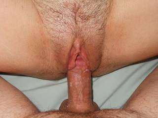 Her pussy always coated my cock with her amazing cream!