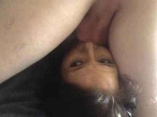 I encourage men to face fuck her. It really uses her as the men dominate her and pump their cum down her throat.