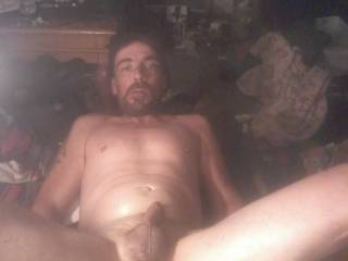 Just laying around smoking meth and stroking my cock