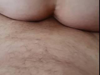 Cumming ball deep in her great little fuckable ass, cum dripping from her ass!