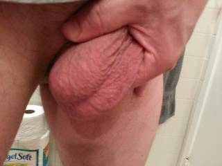 Big Balls right after showering...