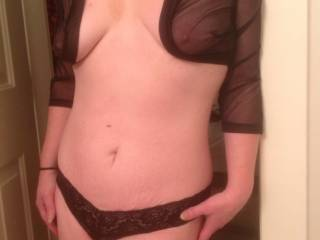 could i do it in person or tribute only? ;)...is that a tiger strip or two i see by your panties? it would be so much fun to fuck you bareback till we were both cumming and pull out all over your married tummy ;) i have a slight fetish with fertile women/married women and pulling out after barebacking, just knowing my load could have been shot deep inside you makes me cum even more and it feels like nothing else especially if the danger of you being fertile is there...