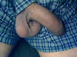Very hot pic...big juicy balls, big thick cock....mouth watering